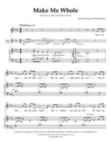 Make Me Whole - w/ Violin or Flute Solo