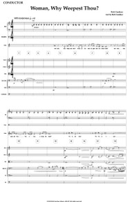 Woman, Why Weepest Thou? - Full Orchestral Score and Parts