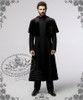 Model view wearing with cape CT00223 and fur collar P00573