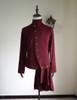 Elegant Gothic Aristocrat Goth Punk Pleated Skirt Jacket Man Shirt