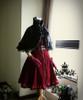 Co-ordinate show (Black Wool+ black fur) blouse TP00136, skirt SP00119N