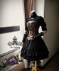 Co-ordinate show corset Y00039, skirt V00006, mitts P00597