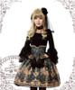 Model Show (Black + Grey Ver.) (hairdress: P00570, choker: AD00581, blouse: TP00142, gloves: P00581, fan: P00580, leggings: P00523)