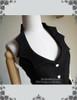 Steampunk Black Vest Skirt Piece Cuff Set Cyber Retro Fashion