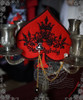 Burgundy + Black Embroidery