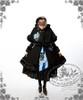 Model Show (Dark Blue + Grey Embroidery) (hairdress: P00542, wool coat + cape: CT00221, JSK: DR00112N, black skirt: SP00166, leggings: P00182)
