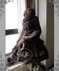 Co-ordinates Show (Deep Brown Ver.) (beret: P00593N, corset: Y00039, shawl: P00588, birdcage petticoat underneath: UN00019)