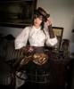 Model Show (Deep Brown Ver.) (sleevelets: P00597, skirt: SP00167, birdcage petticoat: UN00019)