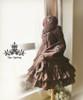 Co-ordinates Show (Deep Brown Ver.) (beret: P00593N, shawl: P00588, dress: DR00115N, birdcage petticoat: UN00019)