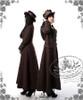 Model Show (Deep Brown Ver.) (flat hat: P00598, coat: CT00051N, blouse: TP00145, shorts: SP00168, leggings: P00182)