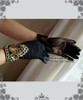 Rococo Lolita Victorian Elegant Gothic Retro Black Lace Short Gloves