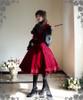 Model Show (Burgundy Ver.) (blouse: TP00086N, fan: P00580, skirt: SP00119N, petticoat: UN00022, leggings: P00182)