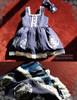 Bunny Alice Lolita Parent-Child Clothes 4pcs Dress & Hairbow Set*Kids Version 2colors Instant Shipping