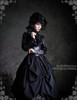 Model Show (hat: P00546, blouse: TP00017, brooch: CT00235, fan: P00580, birdcage petticoat: UN00019LN)