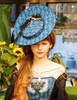 Enchanted Forest, Classic Lolita Vintage Elegant Handmade Retro Cartwheel Hat*2colors