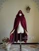 Ghost Bride in Burgundy, Elegant Gothic Lolita Retro Hoodie Mantle/Cape*Instant Shipping