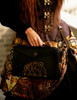Steel Rose, Steampunk Gothic Dandy Fake Leather Envelope Bag/Tote for Man*Black