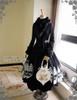 Co-ordinates Show (Black Ver.) (fur collar: P00611, skirt: SP00174, birdcage petticoat: UN00019N, tote: P00613)