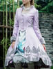 Tartarus Wall, Elegant Gothic Aristocrat False 2pcs Flocking Bottom Jacket&Fur Cuffs*4colors Instant Shipping