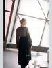 Vintage Embroideried Dress Long Black Dress Pleated Collar Retro Fashion