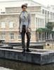 Model View jacket CT00258, pants SP00178, jabot P00516N