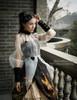 Last Chance Steampunk Midi Dress Printed Jumper Skirt Dress Blouse Set