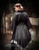 Vintage/Lolita Fashion Kimono Jacket Irregular Length Gown*black,grey,moon white, aqua