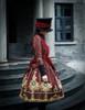 Model Show (Burgundy Ver.) hat P00614, jacket CT00268, blouse TP00125N