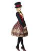 Model Show (Redish black+Burgundy Version) blouse TP00125N hat P00614