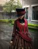 Model Show (Black+ Burgundy Ver.) jacket CT00268, dress DR00189, blouse TP00125N