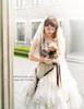 Model Show (crown & veil: P00623, skirt & bustle belt: SP00176, bouquet: P00620)