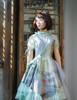 Vintage Midi Dress Floral Summer Dress Bustle Skirt Piece Handmade Chain Set