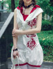 Lolita Jumpsuit Romper Summer Outfit Scarf Set Black White Blue