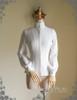 Vintage Stand Collar Shirt Blouse Handmade Shoulder Chain Set White Black