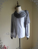 Side View  (light linen/cotton blend in light grey + grey crepe chiffon Ver.)