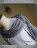 Detailed View  (light linen/cotton blend in light grey + grey crepe chiffon Ver.)