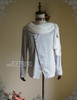 Front View  (Light Grey Dull Silk + White Chiffon Ver.)