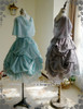 Group View (OP underneath: DR00198, Left: tulle petticoat from DR00196,  Right: birdcage petticoat: UN00027)