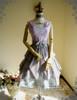 Front View worn as a high waist Bustle Skirt (Light Grey Ver.) (OP underneath: DR00198, birdcage petticoat: UN00027)