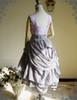 Back View worn as a high waist Bustle Skirt (Light Grey Ver.) (OP underneath: DR00198, birdcage petticoat: UN00027)