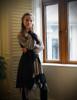 Model Show (Antique Grey + Black Jagged Knitting Fabric Version) Corset & Irregular Bottom Skirt Set SP00186