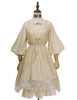 Front View  (Antique Ivory + Gold Ivory Mixed Lace Fabric Version) Petticoat UN00026