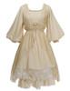 Vintage Chemise Midi Dress Casual Summer Dress* Black Ivory