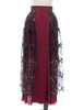 Front View of Skirt (Burgundy + Black Tulle Version)