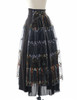 Side View of Skirt (Black + Grey Tulle Ver.) (petticoat: CT00040S)