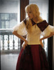 Model Show (Burgundy + Black Tulle Version) blouse TP00157