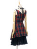 Back View w/o Sleeves (dark blue & red plaid brushed cotton + black crepe cotton ver.)