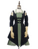 Front View (black jacquard cotton + sage green crepe cotton ver.) (birdcage petticoat: UN00027)