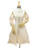 Front View (ivory thick linen/cotton blend twill + ivory crepe cotton ver.) (birdcage petticoat: UN00027)