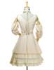 Back View (ivory thick linen/cotton blend twill + ivory crepe cotton ver.) (birdcage petticoat: UN00027)